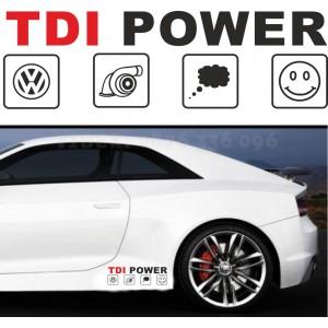 TDI стикер с лого на VW