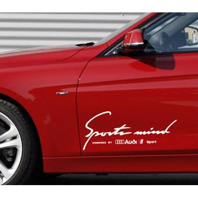 Sport mind Audi  Стикер за странична врата