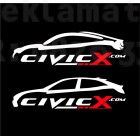 Стикер Honda civic 2 броя