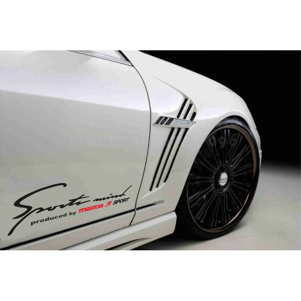Sport mind Mazda 3  два броя стикера