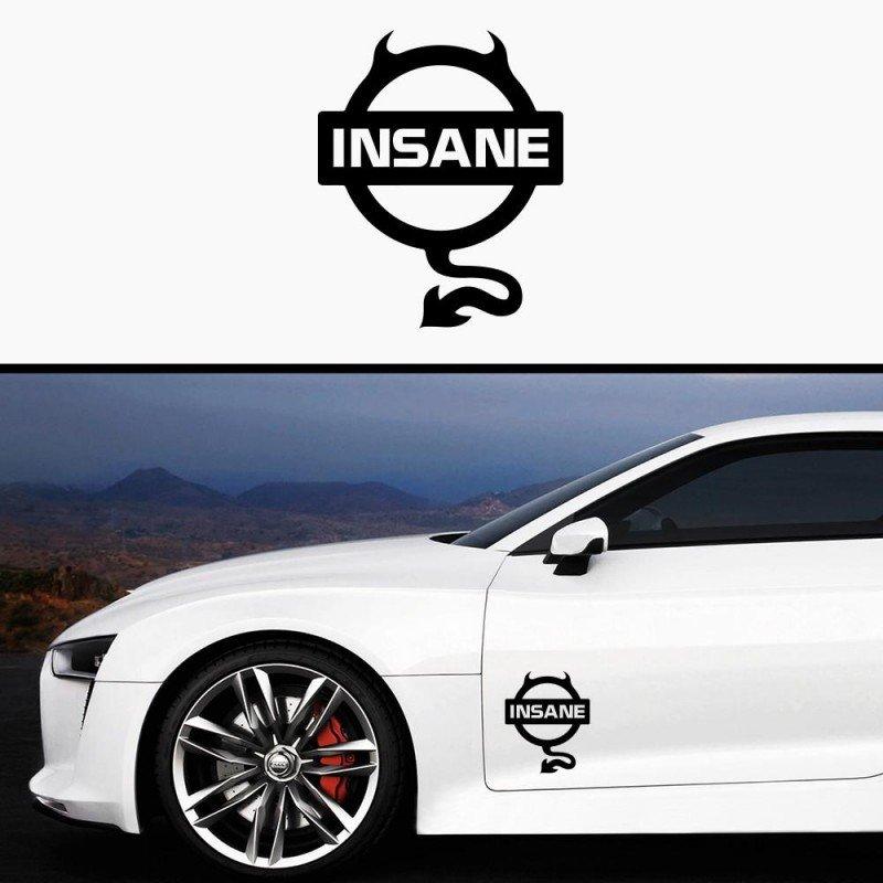 Стикер за кола Insane