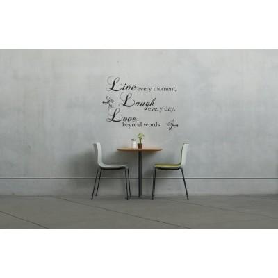 Стикер за стена Live,  Laugh, Love