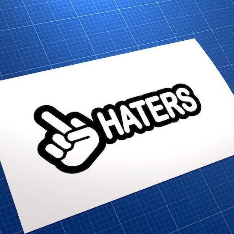 Забавен стикер  Haters
