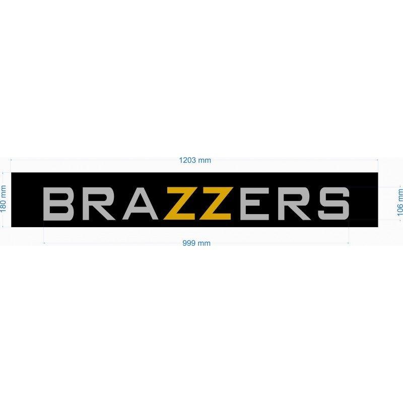 Сенник Brazzers , лепенка, стикер за предно или задно стъкло