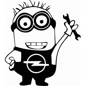 Миньон с гайчен ключ за автомобили сот марката Опел