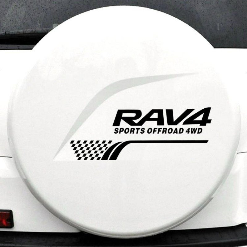 Стикер за капак на резервна гума Rav4