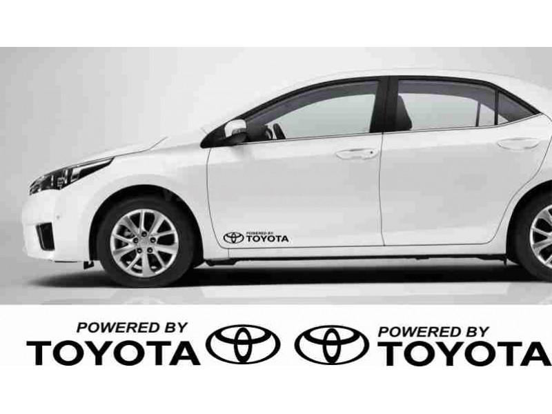 Powered by Toyota  2 броя стикери за автомобил