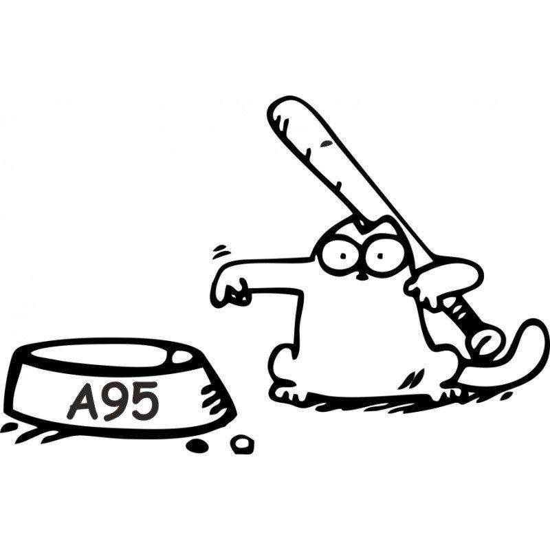 Simon котка забавен стикер за резервоара на кола  А95