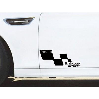 Състезателни стикери Sport Skoda 2 броя за лява и дясна страна