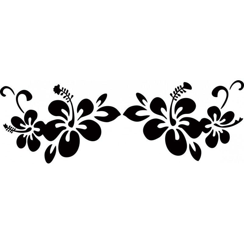 Стикер с цветя