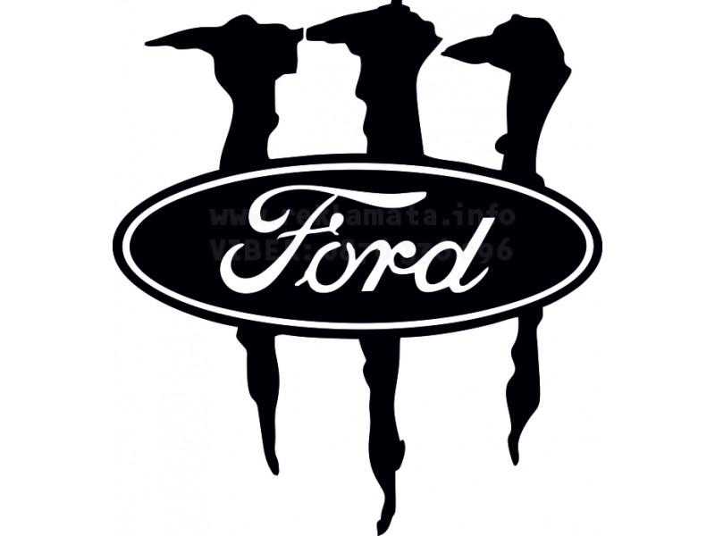 Стикер с лого, Форд, Монстър