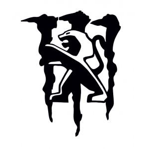 Стикер за Пежо, Лого , Монстър Емблема