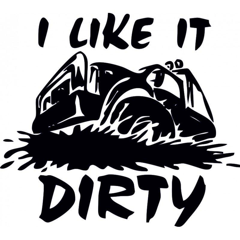 Стикер за офроуд автомобили, 4х4, I like Dirt