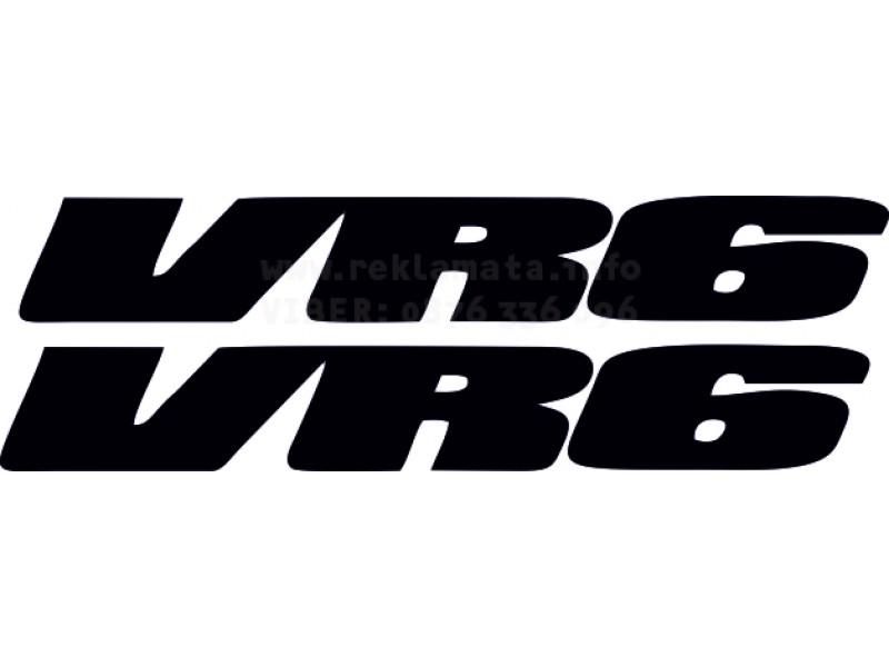 Два броя стикери VR6