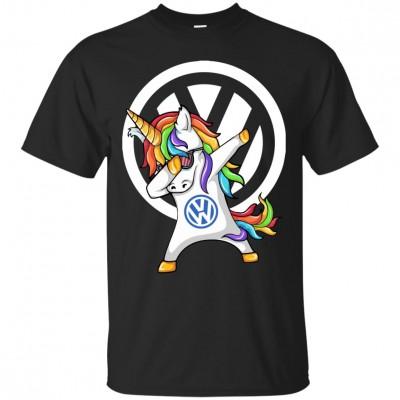 Тениска с еднорог и емблема на Vw