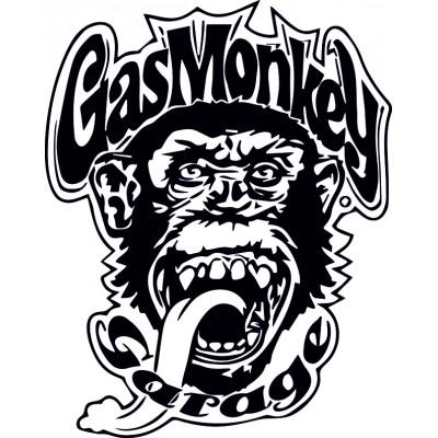 Gas-monkey глава на маймуна стикер за кола