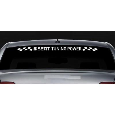 Стикери за Сеат Seat Tuning Power за задно стъкло