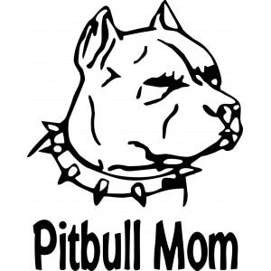 Стикер за кола Pitbull mom