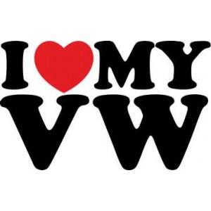 Стикер i love my VW , стикер за коли от марката Фолксваген