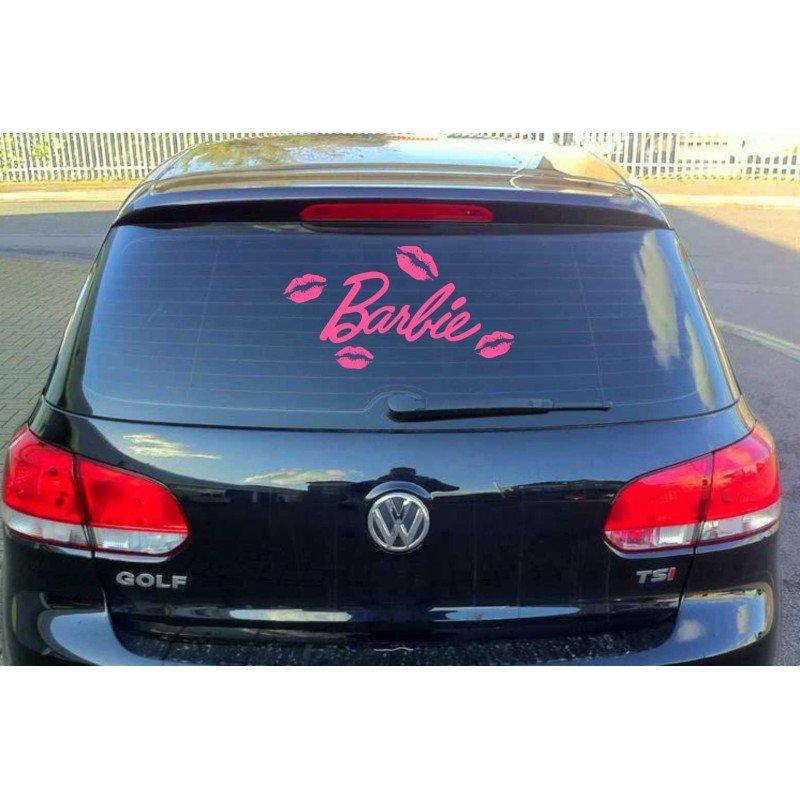 Стикер за задно стъкло Barbie, Барби с четири броя целувки