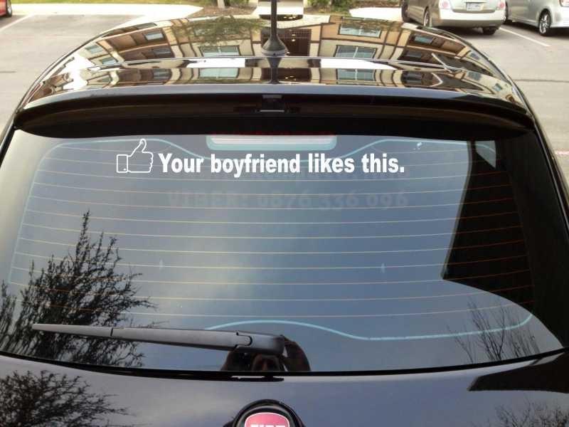 Стикер за кола Your boyfriend likes this !