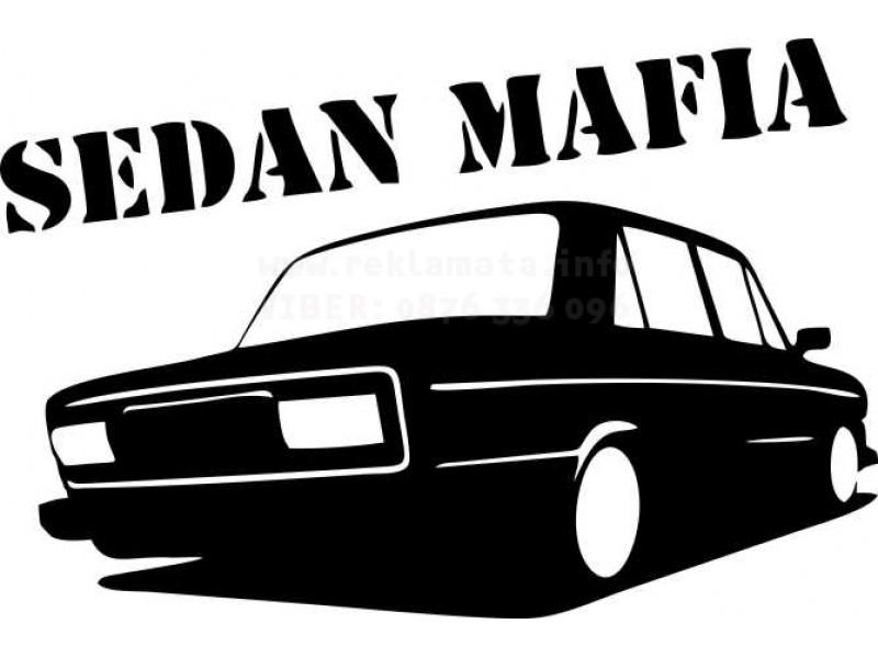 Стикер забавен за автомобил Лада Sedan Mafia