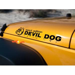 Уникален нов модел стикер за автомобил Devil Dog