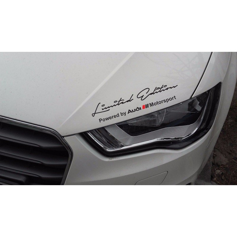 Limited edition Audi  стикер за над фар или друга гладка повърхност