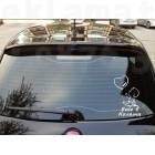 Стикер Бебе в колата момченце с балон