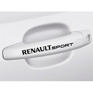 4 Броя стикери за дръжките на вратата Рено спорт