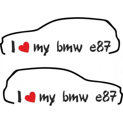 Два броя стикери за бмв i love my bmw e87