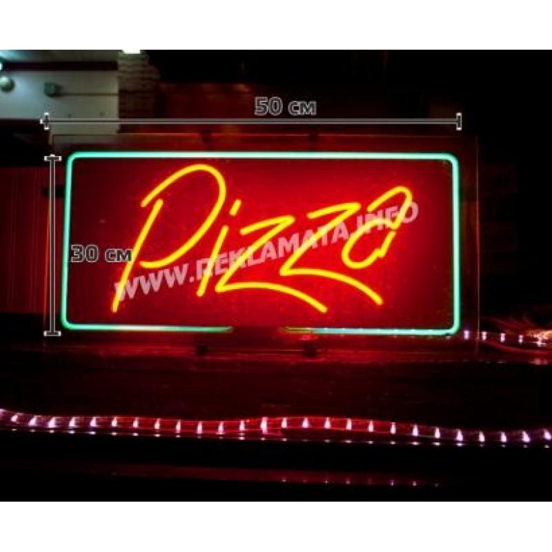 Неонов надпис Пица