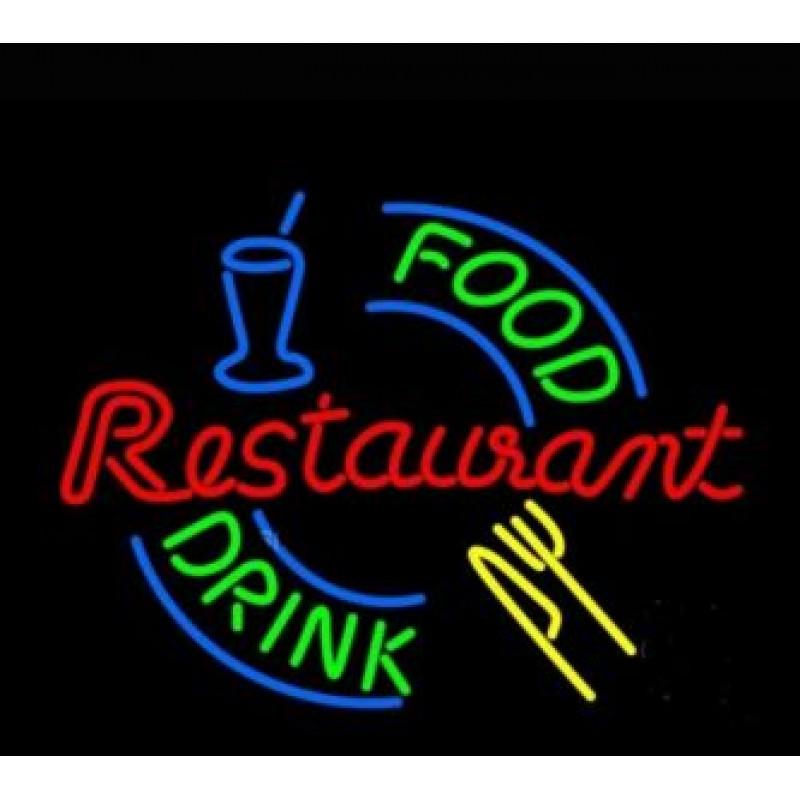 Неонов надпис Ресторант