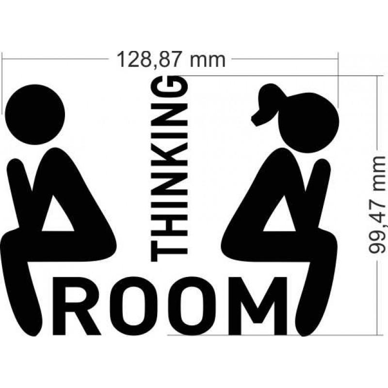 Уникален стикер, лепенка за врата на тоалетна