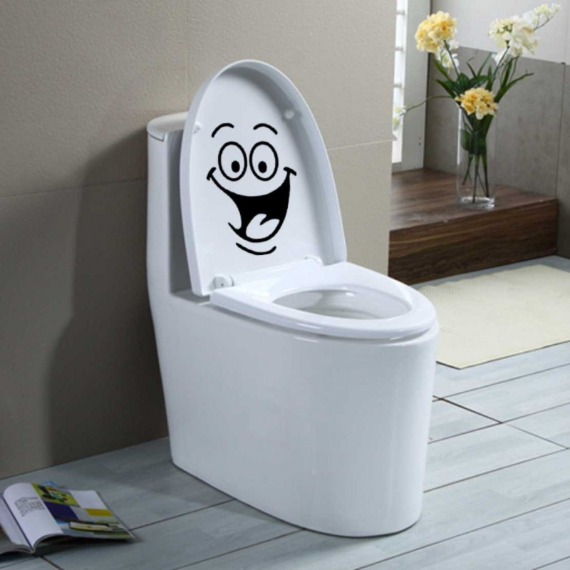 Стикер, лепенка за тоалетна чиния капак, хладилник, стена, лаптоп
