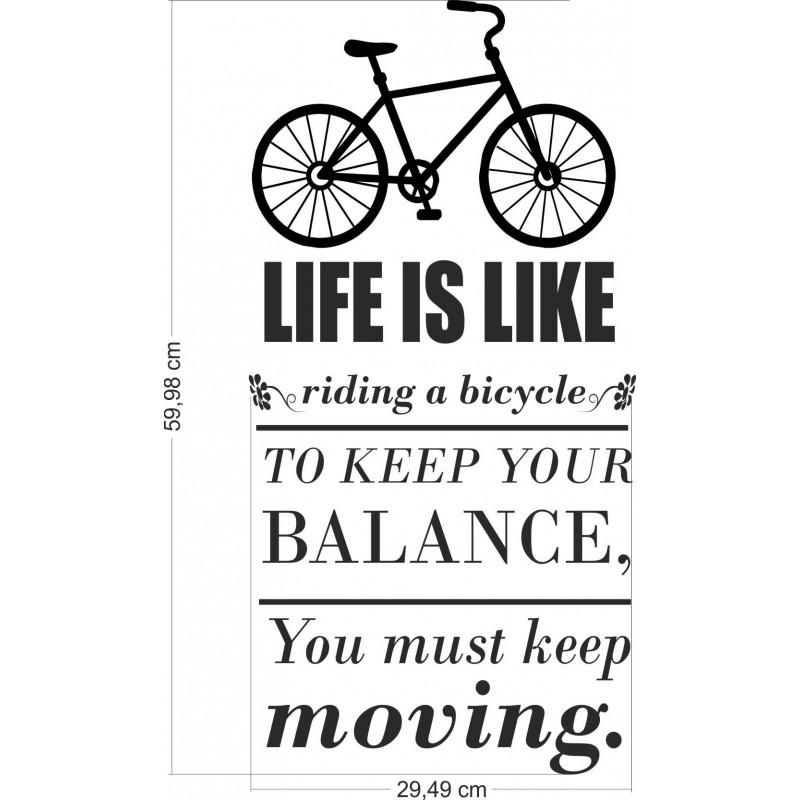 Стикер за стена Живот като колело