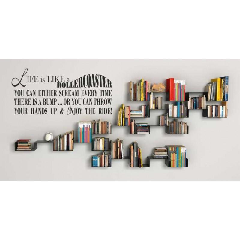 Уникален Стикер Лепенка за стена lIFE IS LIKE A ROLLERCOASTER