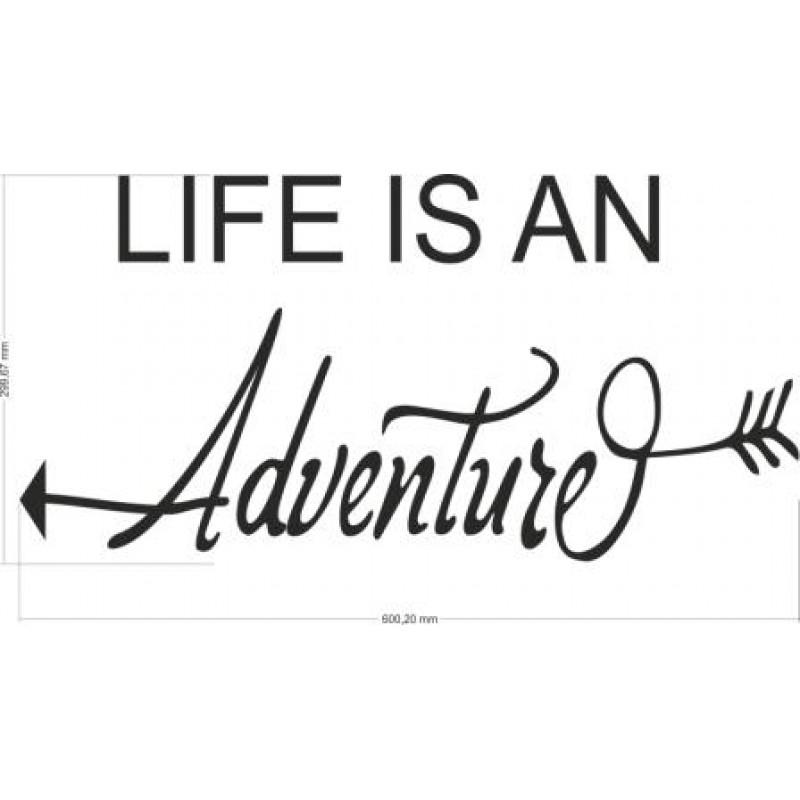 Уникален Стикер Лепенка за стена Life is an adventure