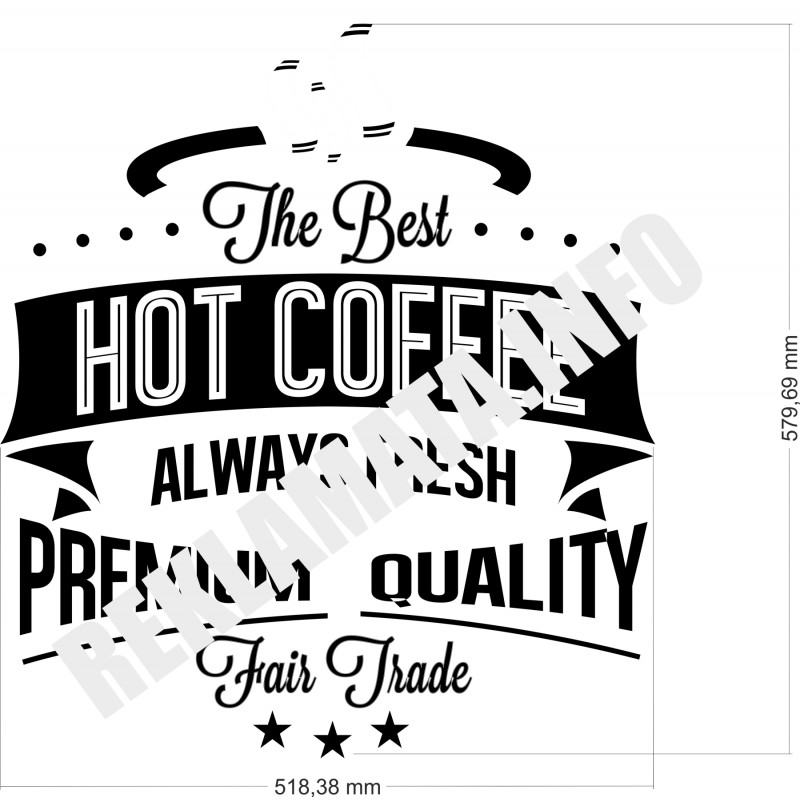 Уникален Стикер Лепенка за стена подходящ за coffee shop, кафе магазин, кафене