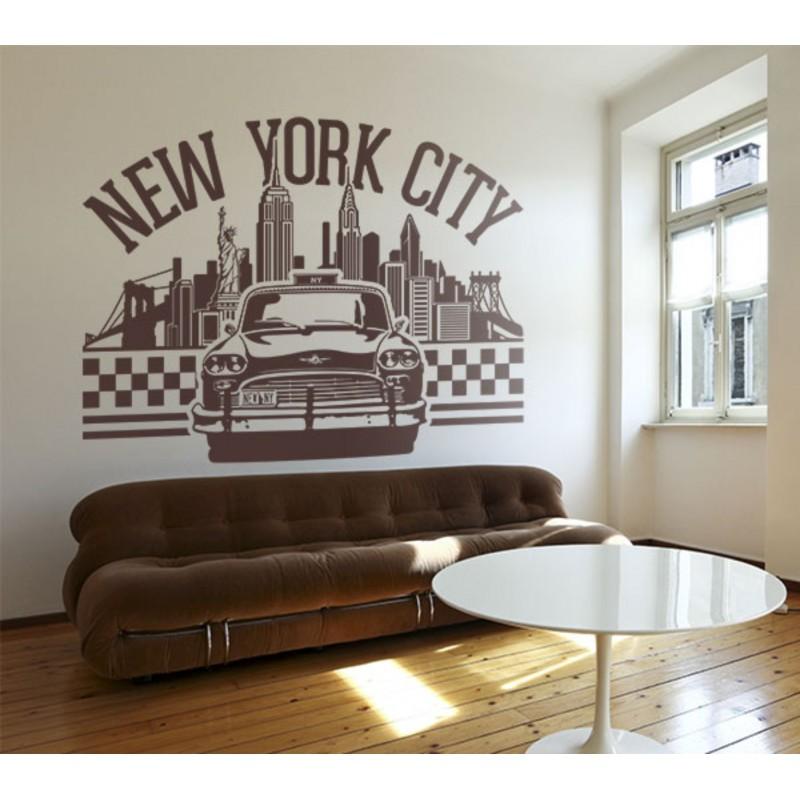 Стикер, лепенка  за стена Такси в Ню Йорк