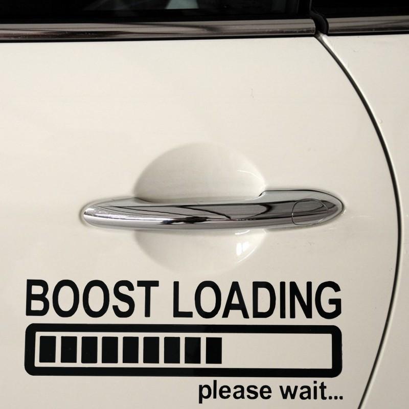 Стикер, лепенка  за автомобил, кола, мотор, компютър, лаптоп Boost loading