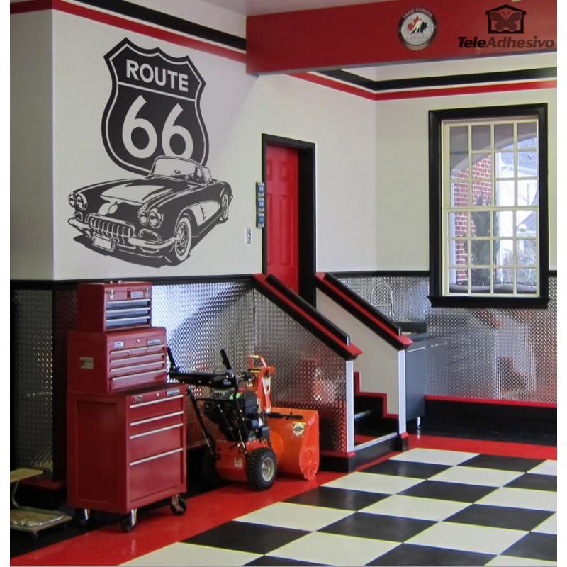 Уникален Стикер Лепенка за стена Route 66