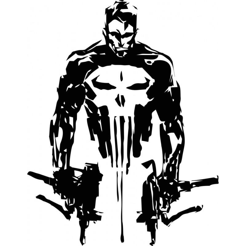 Стикер лепенка за кола или стена The Punisher Наказателя 35/27 см размер