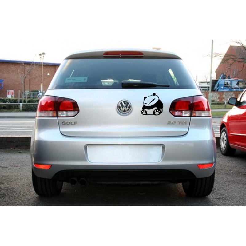 Забавен стикер, лепенка за кола, автомобил Сърдита панда
