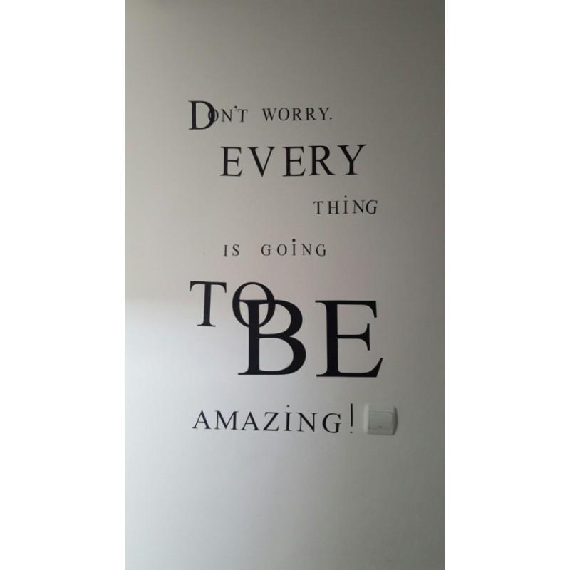 Стикер за стена, фрази, уникални лепенки