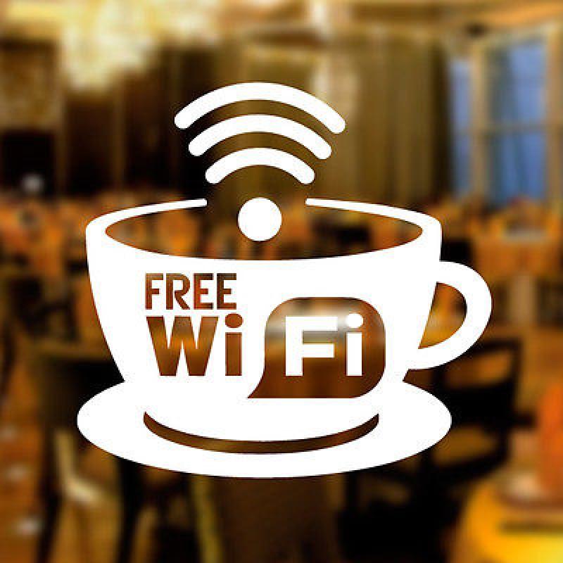 Стикер безплатен интернет free Wi Fi Zone