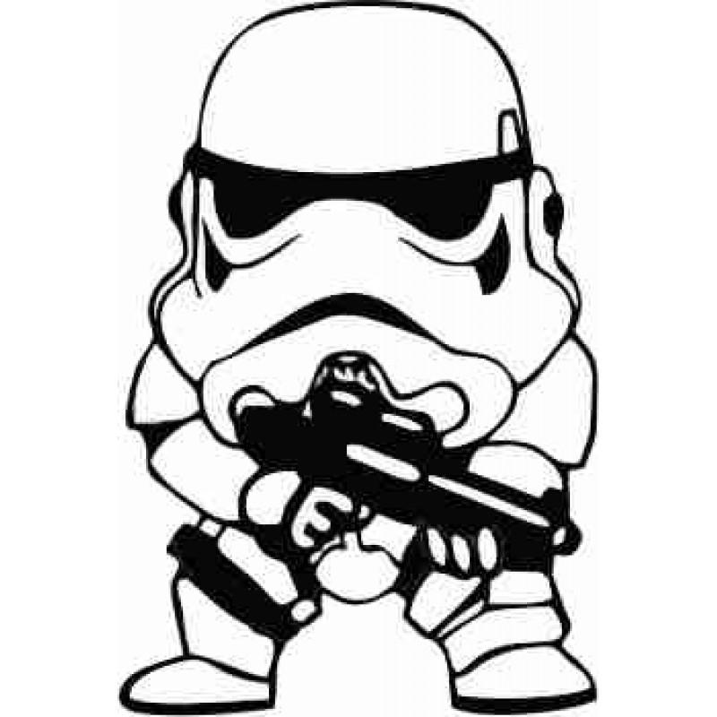 Междузвездни войни стикер малкия трупър, войник, лепенка за автомобил или стена