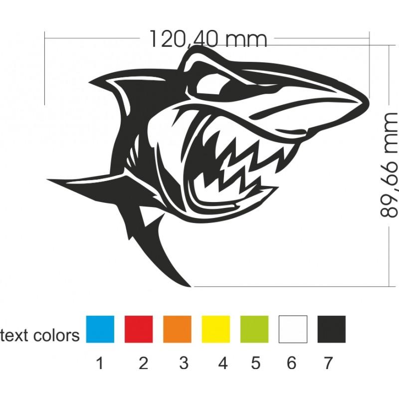 Акула стикер за кола