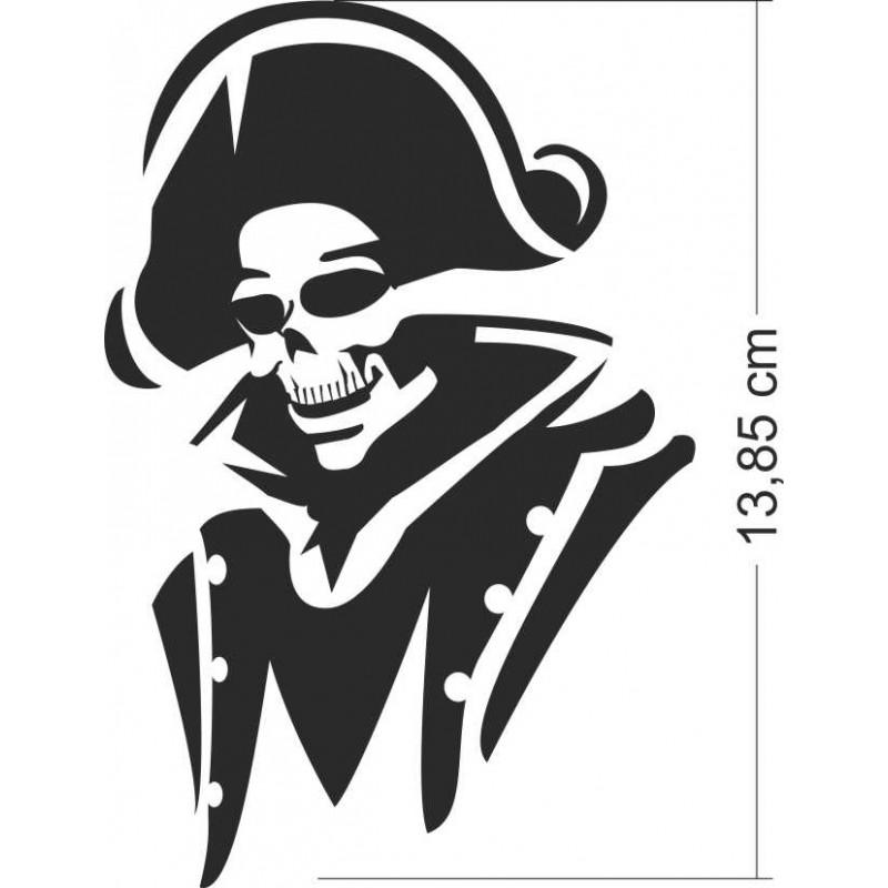 Стикер за кола или мотор Череп Пират