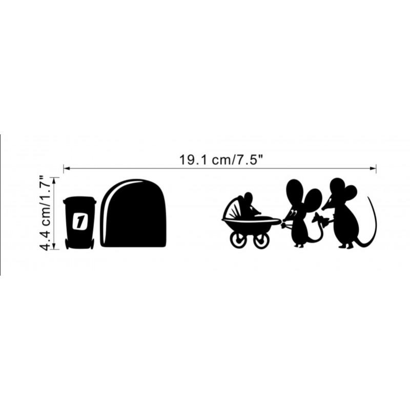 Стикер за стена / Детска стая / Стикер за бюро СЕМЕЙСТВО МИШЛЕТА